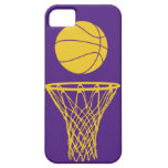 iPhone 5 Basketball Silhouette Lakers Purple