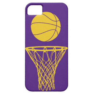 iPhone 5 Basketball Silhouette Lakers Purple iPhone 5 Cases