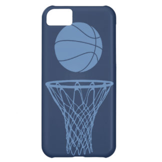 iPhone 5 Basketball Silhouette Light Blue on Dark Cover For iPhone 5C