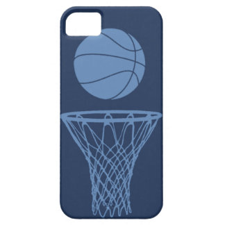 iPhone 5 Basketball Silhouette Light Blue on Dark Case For The iPhone 5