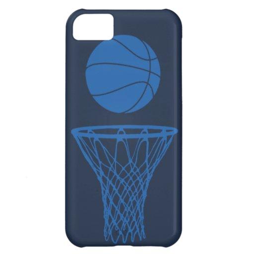 iPhone 5 Basketball Silhouette Maverick Blue Dark iPhone 5C Cases