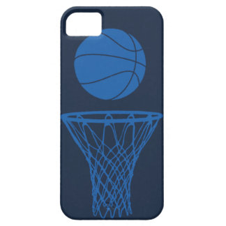 iPhone 5 Basketball Silhouette Maverick Blue Dark iPhone 5 Cases