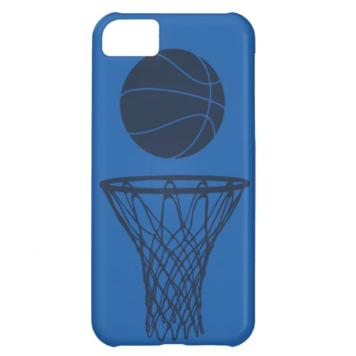 iPhone 5 Basketball Silhouette Maverick Blue Light Cover For iPhone 5C