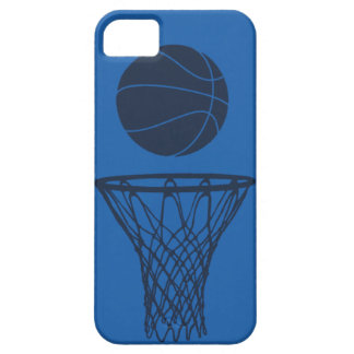 iPhone 5 Basketball Silhouette Maverick Blue Light iPhone 5 Cover