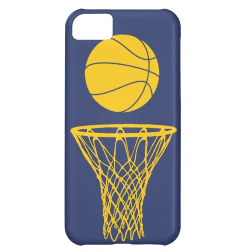 iPhone 5 Basketball Silhouette Pacers Blue iPhone 5C Case