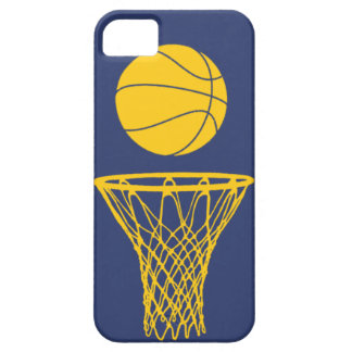iPhone 5 Basketball Silhouette Pacers Blue iPhone 5 Case