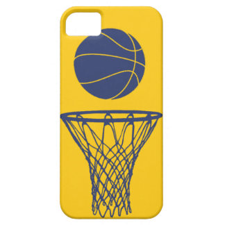 iPhone 5 Basketball Silhouette Pacers Gold iPhone 5 Cases