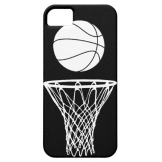 iPhone 5 Basketball Silhouette White on Black iPhone 5 Case