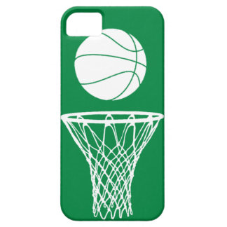 iPhone 5 Basketball Silhouette White on Green iPhone 5 Cover