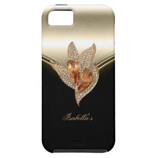 iPhone 5 Black Elegant Caramel Beige Gold Amber Case For The iPhone 5