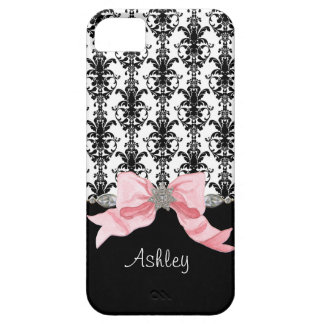 IPhone 5 Bow Floral Leaf Damask Ribbon Jewels Name iPhone 5 Cover