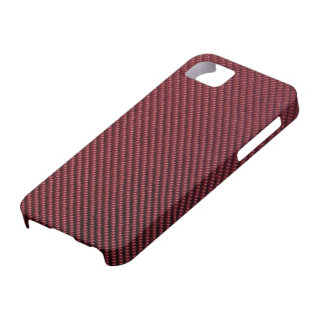 iPhone 5 Case - Carbon Fiber - Metallic Burgundy