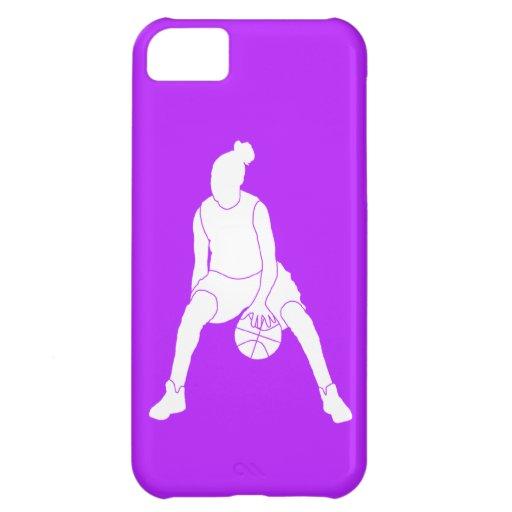 iPhone 5 Case-Mate Dribble Silhouette White/Purple
