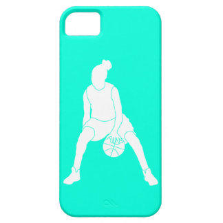 iPhone 5 Case-Mate Dribble Silhouette White/Turquo
