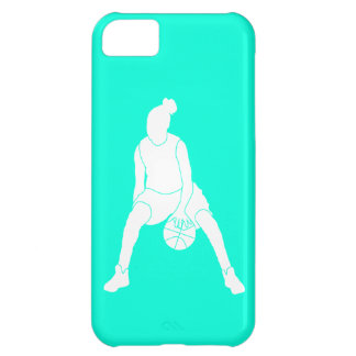 iPhone 5 Case-Mate Dribble Silhouette White/Turquo iPhone 5C Cover