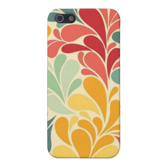 iPhone 5 Case Matte -- Colorful Floral Drops