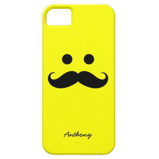 iPhone 5 Case Personalized Mustache Smiley Face