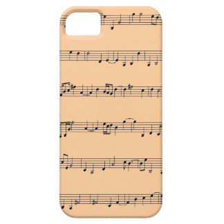 iPhone 5 Case with Music Sheet Design