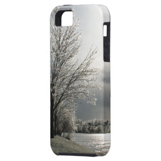 iPhone 5 cover with photo of icy winter landscape