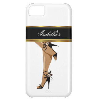 iPhone 5 Elegant Gold White Black Shoes Legs iPhone 5C Cover