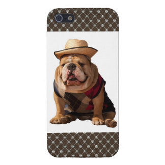 iPhone 5 English Bulldog Puppy Brown Diamond Case