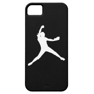 iPhone 5 Fastpitch Silhouette White on Black iPhone 5 Cover