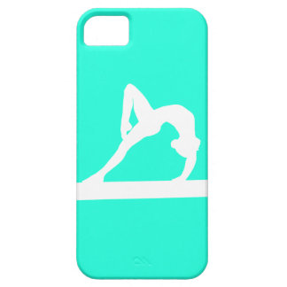 iPhone 5 Gymnast Silhouette White on Turquoise iPhone 5 Cover