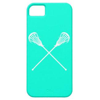 iPhone 5 Lacrosse Sticks Turquoise iPhone 5 Case
