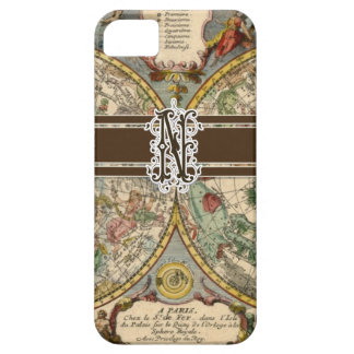 IPhone 5 Letter N Monogrammed Vintage Nautical Map iPhone 5 Case