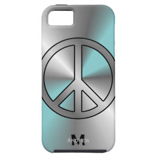 iPhone 5: Monogram: Peace Sign Case