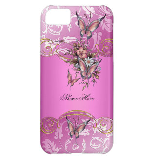 iPhone 5 Pink Gold Butterfly iPhone 5C Cover