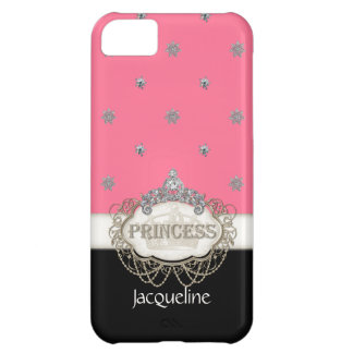 Iphone 5 Princess Jewel Bling Crown Personalized iPhone 5C Cases