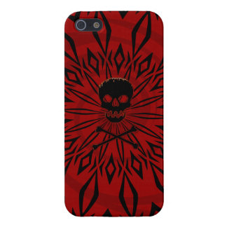 iPhone 5: Red  Rage Skull Case iPhone 5 Cover