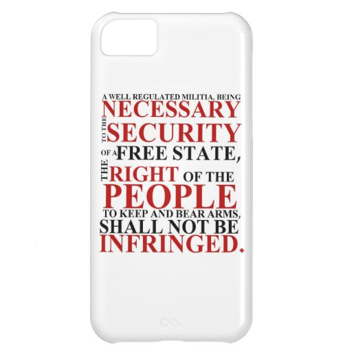 iPhone 5 Second Amendment Case iPhone 5C Case