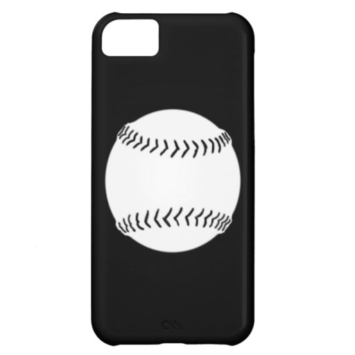 iPhone 5 Softball Silhouette White on Black iPhone 5C Covers