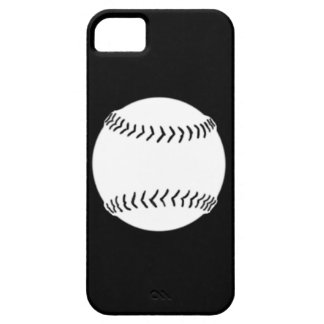 iPhone 5 Softball Silhouette White on Black iPhone 5 Cases