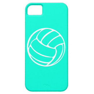 iPhone 5 Volleyball White on Turquoise iPhone 5 Cover