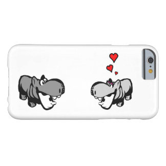 iPhone 6/6s, Barely There - Hippo in Love Barely There iPhone 6 Case