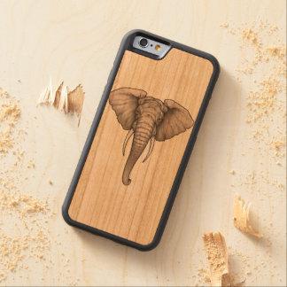 iPhone 6/6s Bumper Cherry Wood Case Elephant