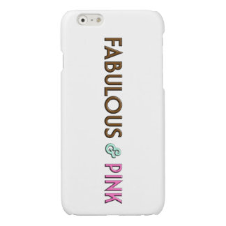 iPhone 6/6s Fabulous & Pink Glossy White Case