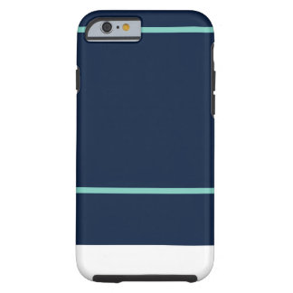iPhone 6/6s Navy & Teal Stripe Pattern Tough iPhone 6 Case