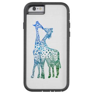 iPhone 6/6s, Tough Xtreme Blue Green Giraffes Tough Xtreme iPhone 6 Case