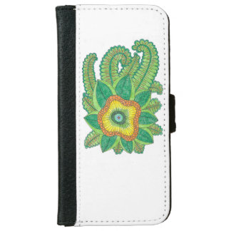 iPhone 6/6s Wallet Case with flower