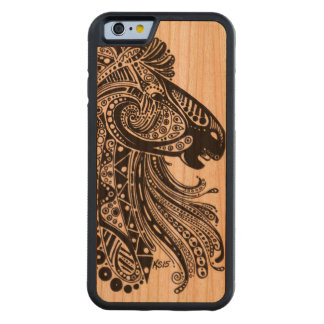 iPhone 6 Bumper Cherry Wood Case with Horse Design