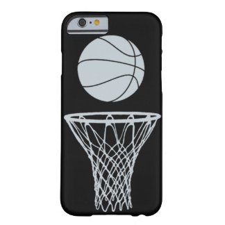 iPhone 6 case Basketball Silhouette Silver on Blac