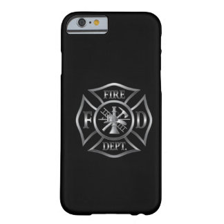 iPhone 6 case black/silver fire department symbol