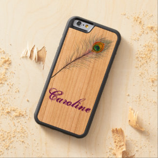 iPhone 6 Case Cherry iPhone 5 Case Peacock Design Carved® Cherry iPhone 6 Bumper