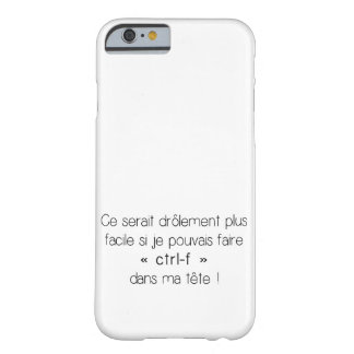 iPhone 6 Case - ctrl-f (French)