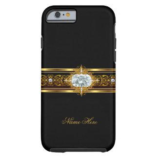 iPhone 6 case Elegant Classy Gold Black Floral Tough iPhone 6 Case