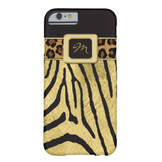 iPhone 6 Case | FAUX Gold Foil | Animal Prints